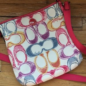 Multicolor Coach Purse